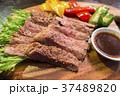 ステーキ 牛肉 カットステーキの写真 37489820