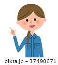 女性 作業服 作業員のイラスト 37490671