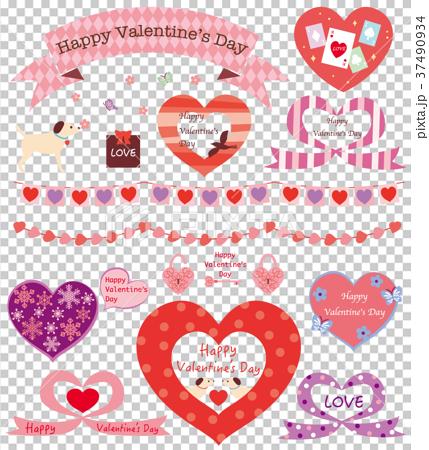 素材-バレンタイン2 37490934