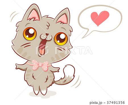 cat in kawaii style. 37491356