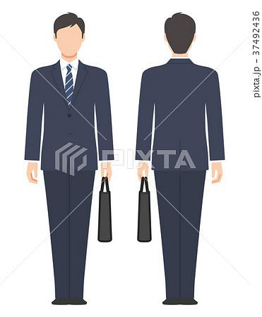 バッグを持ったスーツ姿の男性のイラスト素材 37492436 Pixta