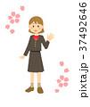 学生服 高校生 女の子のイラスト 37492646