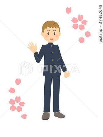 制服男子詰襟のイラスト素材 37492648 Pixta