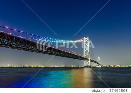 明石海峡大橋 夜景 37492863