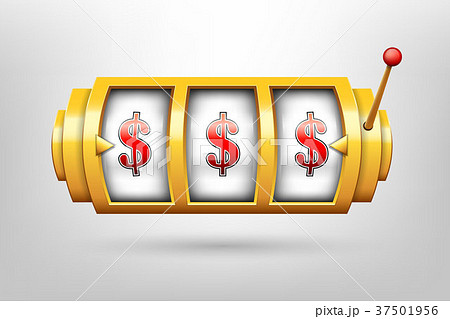 Creative vector illustration of 3d gambling reel 37501956