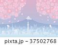 富士山と東京と桜 37502768