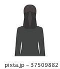 スーツ姿の女性 背面 上半身 37509882