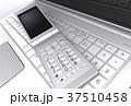 ノートパソコンと携帯電話 37510458