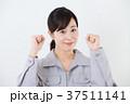 女性 作業服 作業員の写真 37511141