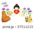 端午の節句 金太郎 鯉のぼりのイラスト 37511215