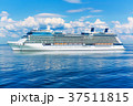 Cruise liner ship in the ocean 37511815