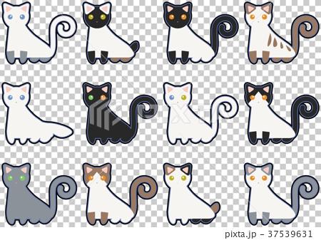 猫のイラストセット 37539631