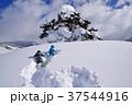 スキー場でそり遊びをする子供たち 37544916