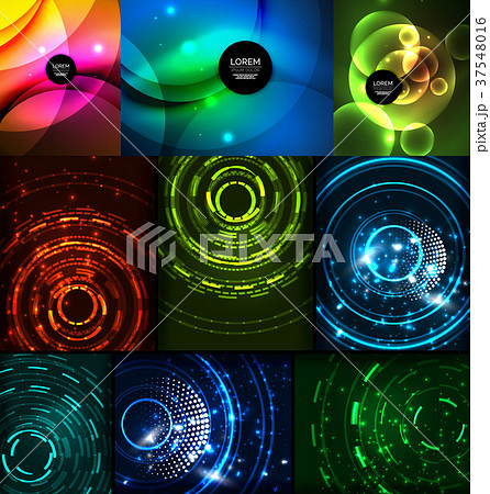 Neon glowing backgrounds 37548016