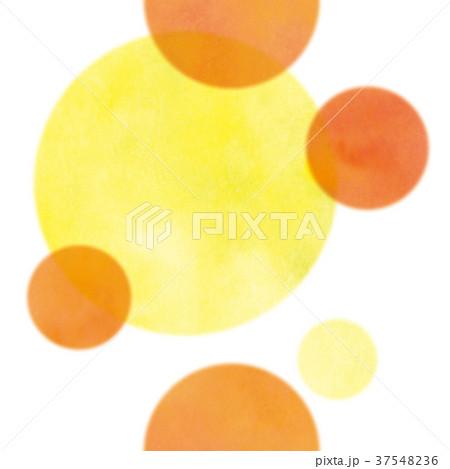 オレンジ水玉模様 37548236