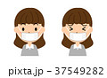 女性 マスク 風邪のイラスト 37549282