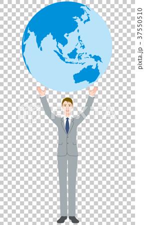 ビジネスマン 地球 37550510