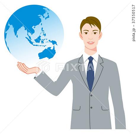 ビジネスマン 地球 37550517