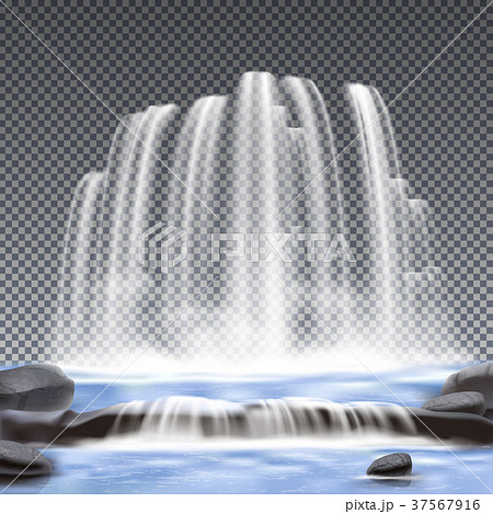 Waterfalls Realistic Transparent Background 37567916