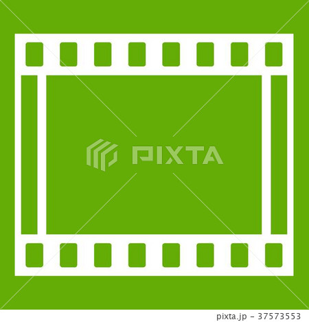 Film with frames movie icon green 37573553