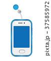 キッズケータイ 携帯電話 携帯のイラスト 37585972
