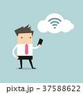 スマートフォン 職業 クラウドのイラスト 37588622