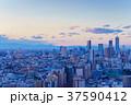 東京都市風景 池袋方面 夕景 37590412