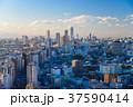 東京都市風景 池袋方面 夕景 37590414