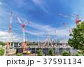 大規模建設現場のある都市風景 37591134