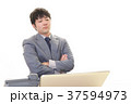 男性 ビジネスマン 悩むの写真 37594973