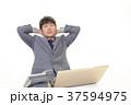 男性 ビジネスマン 悩むの写真 37594975