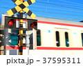 踏切を通過する電車 37595311