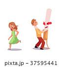 ベクトル フラット 平のイラスト 37595441