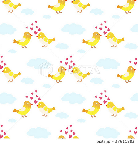 Two lovely birds couple vector fall in love fly 37611882