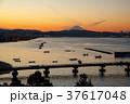 夕焼け 富士山 海の写真 37617048