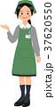 案内するスーパーの女性店員 37620550