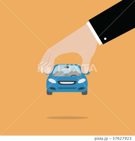 Businessman hand pick a car 37627923