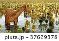 Prehistoric landscape with big diplodoc 3d 37629378
