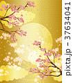 桜と金の和柄の背景素材 37634041