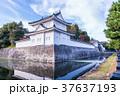 日本の風景 京都 秋の二条城 東南隅櫓 37637193