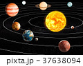 Planets of the solar system, 3D rendering 37638094