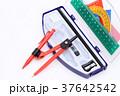 文具 コンパス 三角定規の写真 37642542