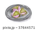 桜餅 水彩 和菓子のイラスト 37644571