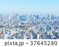恵比寿から見た港区方面の街並みと東京タワー 37645280
