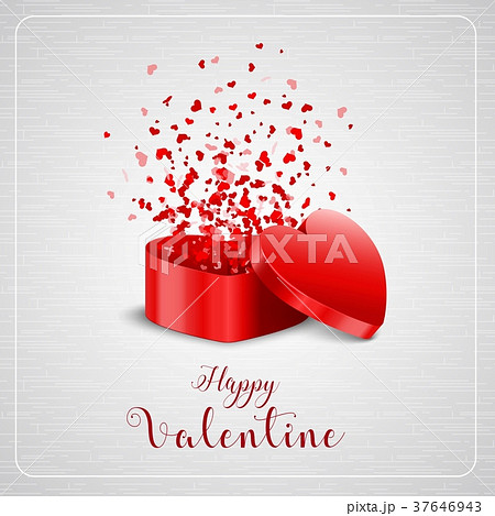 Happy valentines day card and open heart gift happy valentines day card and open heart gift negle Gallery