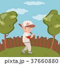 ベースボール 白球 野球のイラスト 37660880
