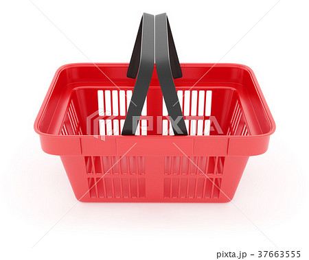 Shopping basket in supermarket empty red box 37663555