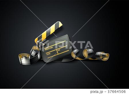 online cinema art movie poster designのイラスト素材 37664506 pixta