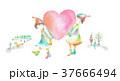 ハート 小人 カラフルのイラスト 37666494