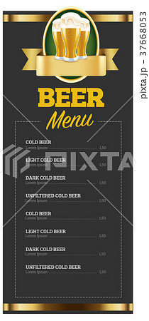 beer menu blanket design for pub 37668053